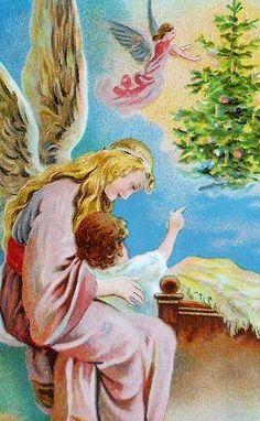 Beautiful Vintage Angel Christmas Card