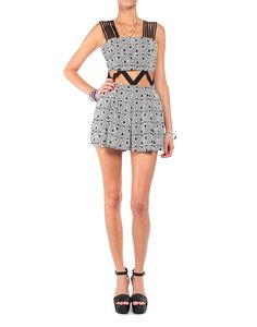 Cut Out Triangles Romper - #2020AVE #rompers #tribal #Coachella #summer
