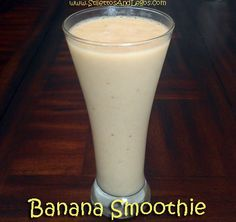Banana Smoothie ~ Zero Weight Watchers PointsPlus ~  And only TWO ingredients!!! This one just SOUNDS delicious!! Yummm!