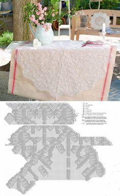 Lace Knitting, Knitting Stitches, Knit Crochet, Knit Lace, Doily Patterns, Knitting Patterns, Crochet Patterns, Fillet Crochet, Crochet Tablecloth