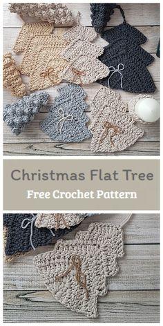 Crochet Christmas Decorations, Christmas Tree Pattern, Crochet Christmas Ornaments, Crochet Decoration, Christmas Crochet Patterns, All Free Crochet, Learn To Crochet, Easy Crochet, Crochet Baby