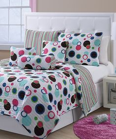 Take a look at this Blue McKenzie Quilt Set on zulily today!