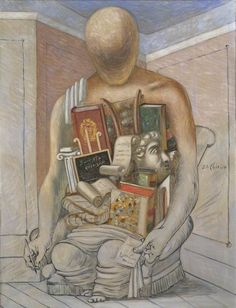 giorgio de chirico(1888–1978), the philosopher, 1927. oil on canvas, 116.7 x 89.5 cm. whitworth art gallery, university of manchester   http://www.bbc.co.uk/arts/yourpaintings/paintings/the-philosopher-206764