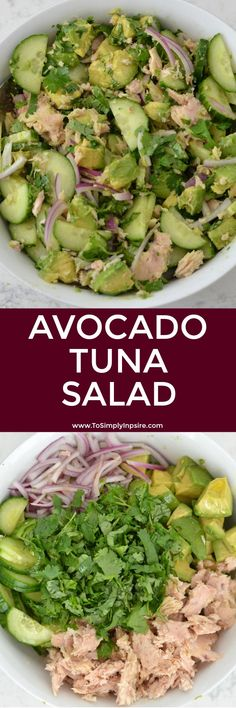 This Avocado Tuna Salad is packed with fresh flavors and protein. This Avocado Tuna Salad is packed with fresh flavors and protein. It& a great twist on traditional tuna salad for a healthy lunch or as a side dish. Healthy Pastas, Healthy Cooking, Healthy Snacks, Healthy Eating, Diet Recipes, Cooking Recipes, Healthy Recipes, Snacks Recipes, Pasta Lunch