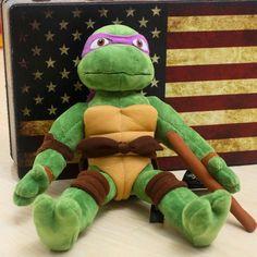Teenage Mutant Ninja Turtles Leonardo Donatello Raphael Michelangelo Plush Doll tvi hwd 80's