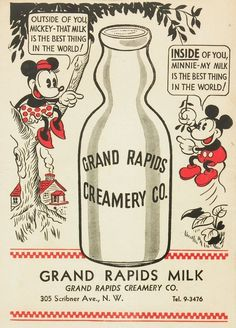 Vintage Mickey Mouse milk innuendo