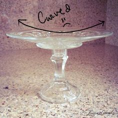 Make your own cake stand  with glass_dinner plate =_cake stands