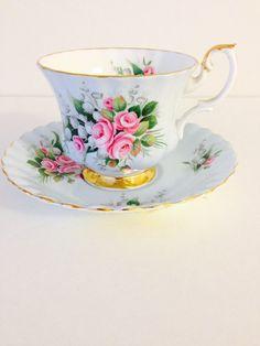 Royal Albert Teacup and Saucer Bone China by vintagebygramma