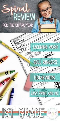 Teachers and Homeschoolers are you looking for a morning bell work routine that will have your Grade students practicing key math and literacy skills from your Common Core or TEKS standards? These easy Prep print and go monthly bell ringer packs are 3rd Grade Words, 2nd Grade Ela, 2nd Grade Reading, Kindergarten Reading, Reading Resources, Classroom Resources, Classroom Ideas, Word Work Stations, Bell Work
