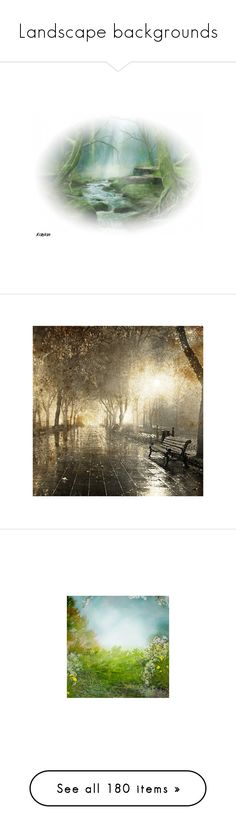 """""""Landscape backgrounds"""" by sjk921 ❤ liked on Polyvore featuring water, tubes, backgrounds, filler, fotki, effect, autumn, landscape, art and autumn background"""