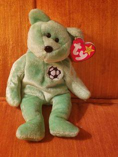 f8a40b98d3b Kicks Beanie Baby Rare Retired Tag Error by MamaandWinniesGifts Beanie Baby  Bears