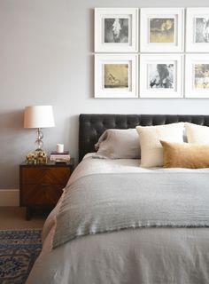 My next bedroom and colour combo throughout: ivory, camel, grey, black 'n blue...in love. ❤️