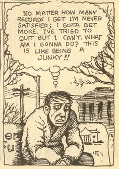 American Splendor #3, 1978. Collecting records it's like being a junkie.