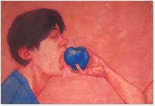 Jen Adams - Apple  Available at Gurevich Fine Art  info@gurevichfineart.com Adam's Apple, Oil On Canvas, Fine Art, Artist, Fictional Characters, Artists, Fantasy Characters, Visual Arts