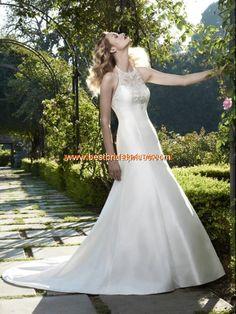 2013 Moderne Brautmode hamburg kaufen aus Satin mit Schleppe