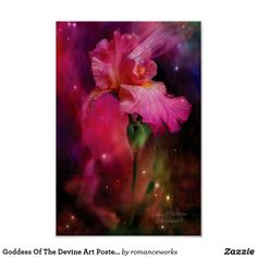 Shop Goddess Of The Devine Art Poster/Print Poster created by romanceworks. Iris Painting, Painting Prints, Art Prints, Iris Art, Poster Prints, Framed Prints, Language Of Flowers, Great Paintings, Art Background