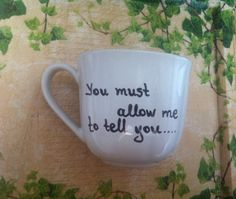 Items similar to Mug with proposal from Pride and Prejudice/or quotes from Twilight or The Notebook or your favourite movie on Etsy Pride And Prejudice, Proposal, Twilight, Notebook, Mugs, Box, Tableware, Handmade Gifts, Quotes