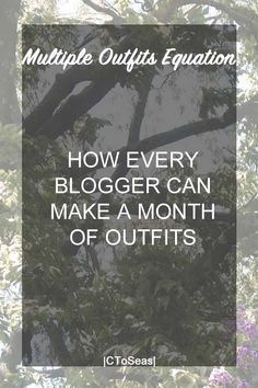"""I'm sure you've seen posts about taking thirteen clothing items and somehow it turns into 30 outfits. It's not a series of creative people coming up with new and creative combinations. On the contrary, they follow a simple formula. You could easily replicate these capsule wardrobe ideas for your own. Here is how they make … Continue reading """"Multiple Outfits Equation."""""""