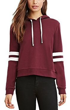 7b1a37387267b0 Trendy Hooded Long Sleeve Color Spliced Drawstring Hoodie For Women