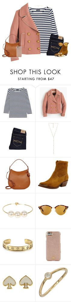 """""""Who's ready for fall?"""" by properlypreppy101 ❤ liked on Polyvore featuring J.Crew, Abercrombie & Fitch, Kendra Scott, Kate Spade, Frye, Jules Smith, Ray-Ban, Tory Burch and Tiffany & Co."""