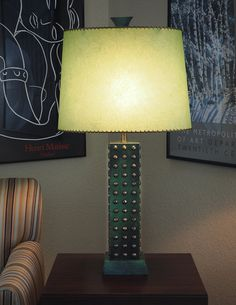 XLARGE Brass Studded Green Leather Wrapped от FireflyVintageHome