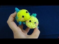 かぎ編みで編む(Only hook)ツムツム(TsumTsum)フランダー(Flounder)レインボールーム(Rainbow loom) - YouTube