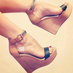 12 Stunning High Heels and Wedges To Wear This Summer 30 Chic Summer Shoes & Outfit Ideas – Street Style Look. The Best of wedges in Wedge Sandals, Wedge Shoes, Women's Shoes, Shoe Boots, Fall Shoes, Teen Shoes, Shoes Tennis, Prom Shoes, Winter Shoes