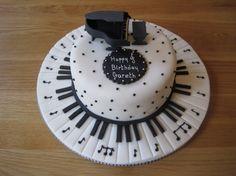 Piano Birthday Cake - for Gus