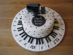 Piano Birthday Cake - for Gus