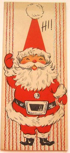 Vintage Christmas Card-Hi via Etsy