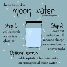 Have you ever made moon water? Have you ever made moon water? Jar Spells, Moon Spells, Magick Spells, Magick Book, Wiccan Spell Book, Wiccan Witch, Witch Spell, Spell Books, Tarot
