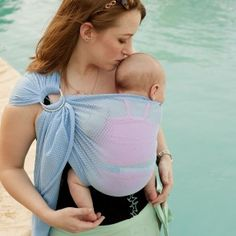 Beachfront Baby Slings let you take baby in the water...in style!