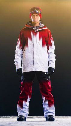 Love the colour usage. Snowboarding Olympics, Snowboarding Outfit, Winter Olympics 2014, Sports Uniforms, Olympic Team, At A Glance, Olympians, Outdoor Gear, Athletic Wear