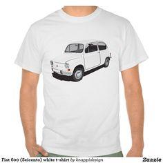 Fiat 600 (Seicento) white t-shirt  Fiat 600 (Seicento) black t-shirt  #fiat #fiat600 #seicento #tshirt #tshirts #tpaita #troja #skjorta #italy #automobile #bilar #auto #classic #vintage