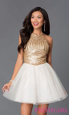 Short High Neck Open Back Dress 8020563 by Masquerade at PromGirl.com