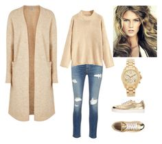 """Ootd beige&gold"" by vierabresto on Polyvore featuring Acne Studios, rag & bone/JEAN, Luciano Padovan and Michael Kors"