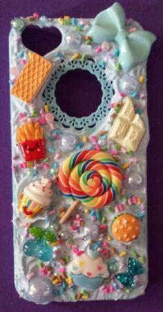 Iphone 5 phone case kawaii decoden cabochon