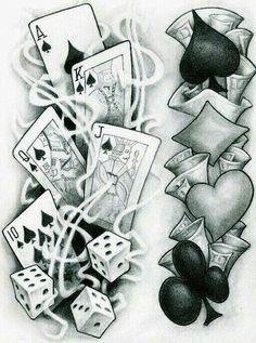 Tattoos Discover Flash tattoo 77 ink tattoo drawings card tattoo designs y c Tattoo Sketches Tattoo Drawings Card Tattoo Designs Arte Lowrider Herren Hand Tattoos Dice Tattoo Vegas Tattoo Casino Tattoo Tattoo Zeichnungen Tattoo Sketches, Tattoo Drawings, Art Drawings, Drawing Art, Herren Hand Tattoos, Dice Tattoo, Poker Tattoo, Card Tattoo Designs, Arte Lowrider