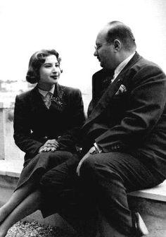 HM King Farouk I and HM Queen Narriman in Exile in Capri