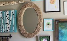 Aquí tienes algunas sugerencias muy decorativas para reciclar una cuerda y renovar tu casa: espejos, complementos, estructuras, etc. Mil ideas a tu alcance.