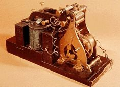 "Samuel  Morse Telegraph Receiver Used to receive the message, ""What hath God wrought"" during the demonstration to Congress in 1844."