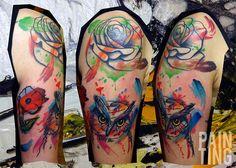 Owl tattoos by Szymon Gdowicz - Pain Ting
