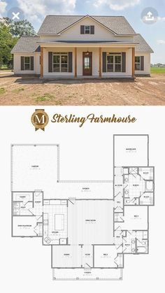 Sterling Farmhouse Living Sq Ft: 2206 Bedrooms: 3 or 4 Baths: 2 Lafayette Lake . - Sterling Farmhouse Living Sq Ft: 2206 Bedrooms: 3 or 4 Baths: 2 Lafayette Lake … Sterling Farm - Layout Design, Bathroom Design Layout, Design Ideas, Kitchen Layout, Bath Design, Farmhouse Plans, Modern Farmhouse, Farmhouse Style, Farmhouse Layout
