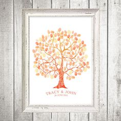 ombre+thumbprint+guest+book+tree++printable+file+by+idoityourself,+$20.00
