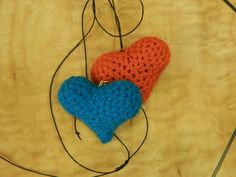 Excited to share the latest addition to my #etsy shop: Valentine's Hearts for him and her,his and hers,heart necklace,heart keychain,SET OF TWO,gift for two,amigurumi hearts,handmade,crochet http://etsy.me/2nImreT #jewelry #necklace #red #yes #girls #no #blue #lovefrie