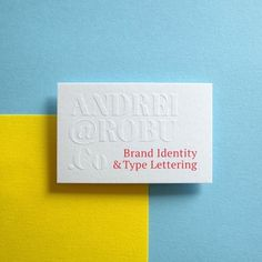 Andrei Robu — Designspiration