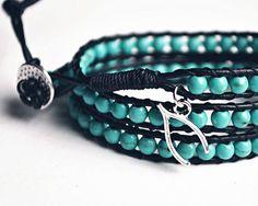 Turquoise Bracelet // Chance Wrap Bracelet // Bohemian by Gomeow