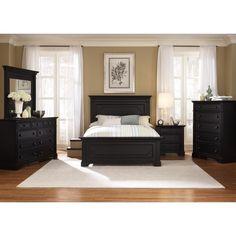 black bedroom furniture with gray walls - Black Bedroom Furniture ...