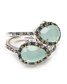 Elizabeth and James Aqua Chalcedony Thorn Small Ring | Bloomingdale's