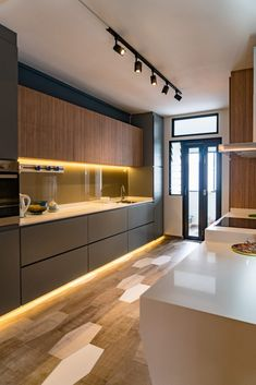 49 Cool Small Kitchen Design With Island Kitchen Vinyl, Loft Kitchen, Kitchen Room Design, Luxury Kitchen Design, Contemporary Kitchen Design, Best Kitchen Designs, Kitchen Cabinet Design, Home Decor Kitchen, Interior Design Kitchen